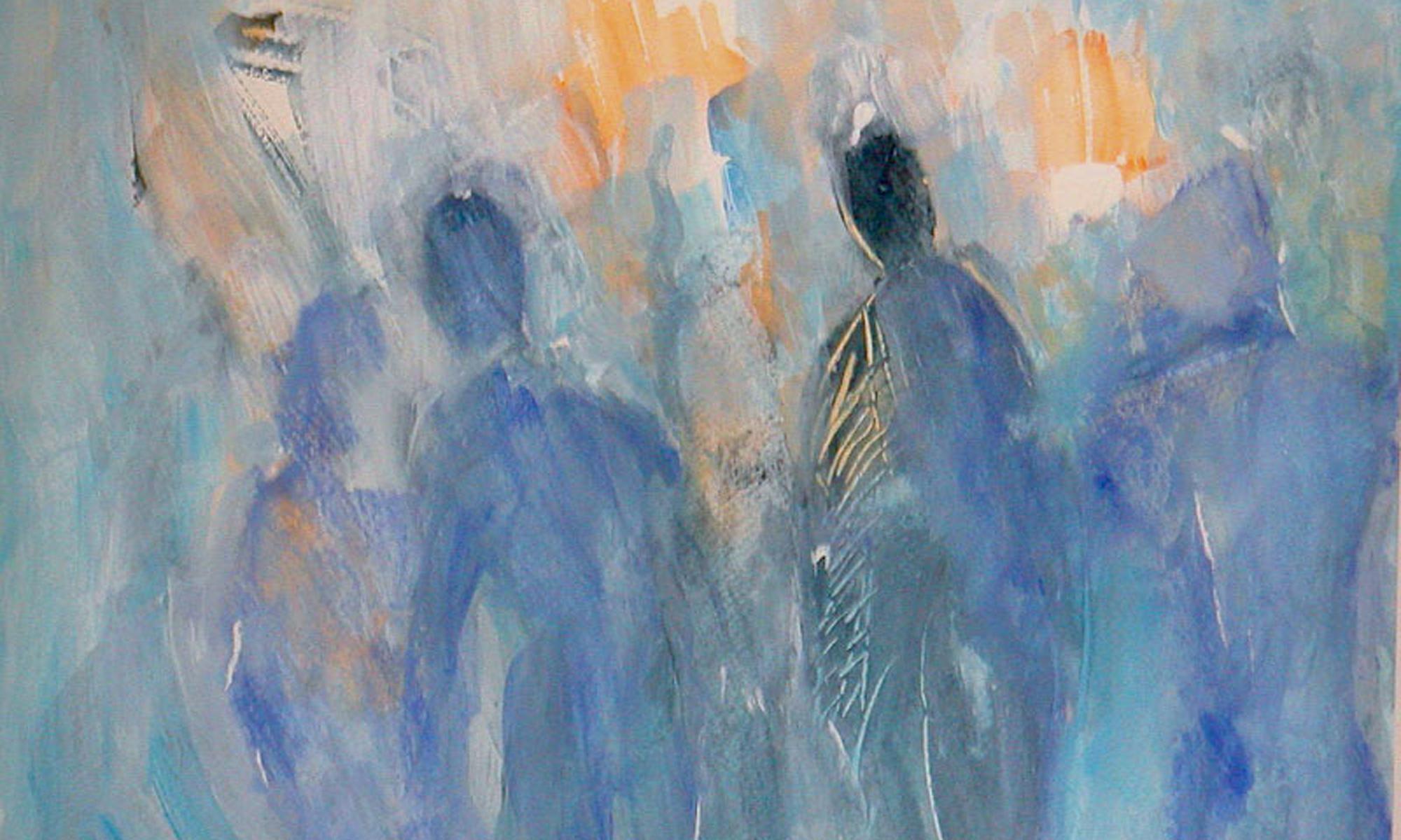 """"""" Blick ins Ungewisse"""", Acryl/Lw. 30x40 cm Allegorische und literarische Bilder"""